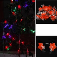 5M 27 Fiber Optic Red Flower Outdoor/Indoor Decor Fairy Wedding Patry Christmas String LED Light
