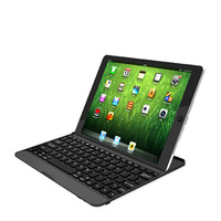 New White Aluminum Case Bluetooth Wireless Keyboard Dock for Apple New iPad 5 iPad Air bluetooth keyboard