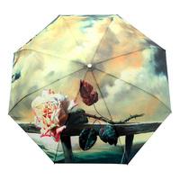 2014 new fashion & high quality romantic automatic  sunshade umbrella anti-UV foldable & solid 1pcs