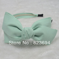 Fashion bright color big bow hair bands photchromic headband three-color hot-selling accessories