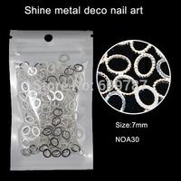 200pcs Oval metal Nail Art Decoration Cell phone Laptop decoration