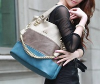 2013 fashion handbag vintage shoulder bag matching  women hand bags leather+PU bag Factory Direct Free shipping