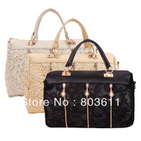 Fashion Korean Style Women Ladies Lace Leather Handbag Shoulder Bag
