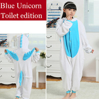 Blue Unicorn Children Onesies Anime Cosplay Costumes Animal Pajamas Fantasia Infantil Sleepwear Halloween Costume for Kids