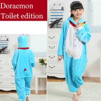 Doraemon Flannel Children's Pajamas Anime Cosplay Costumes Pijama Infantil Sleepwear Kids Christmas Pajamas Sets For Girls Boys