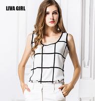 S M L XL XXL XXXL Women Casual Sexy Blouses & Shirts White Chiffon Print 2015 New Summer Hot Selling Office Lady On Sale !