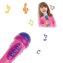 Feitong 1PC Pink Funny Microphone Mic Karaoke Singing Funny Gift Music Toys Free Shipping&Wholesales(China (Mainland))