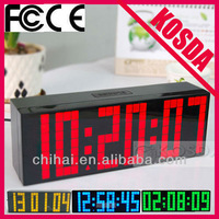 free shipping Top Quality Alarm Clocks with Thermometer,Table Clocks,Big numbers Digital Clock,plastic Clocks LED display