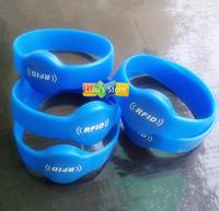 5pcs/lot  EM4100 125Khz RFID Proximity ID readable silicone wristband