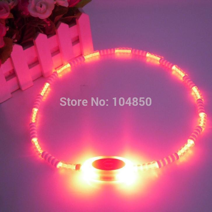 Free shipping 10pcs/lot LED flash ego laniard nylon webbing necklace with banboo decoration(China (Mainland))