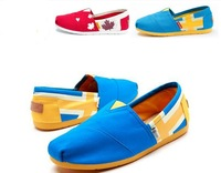 Free shipping ! new women's round toe Canvas shoes flat mary janes shoes   GJW-9