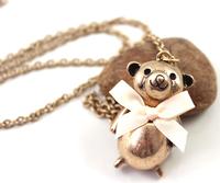 fashion necklaces for women 2014 accessories fashion bow bear gold necklace pendant necklaces pendants best friend