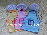 junior apron hat set children cooking apron baby showtime dance apron kids chef apron with hat