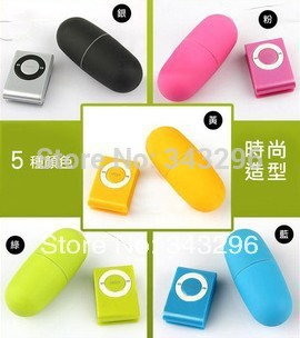 Colorful Portable Wireless Waterproof MP3 Vibrators , Remote Control Women Body Massager Vibrator Sex Toys, Audlt Products(