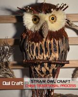 Folk crafts straw owl glass hanging eagle Handmade Pure hand-woven owl gift hanging decoration Patron saint Medium Kenny