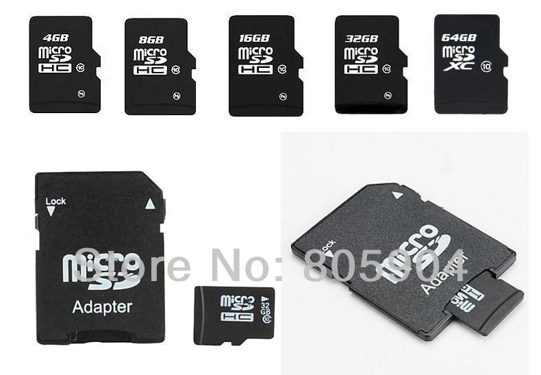 High Speed TF/Micro SD Card 256MB 512MB 1G 2G 4G 8G 16G 32G 64G+Free Adapter+Gift Card Reader+Retail Plastic box(China (Mainland))