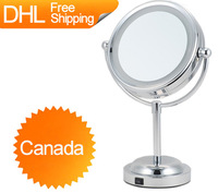 Canada Free Shipping GREENFROM Vanity Table Standing LED Cosmetic Magnification Makeup Mirror
