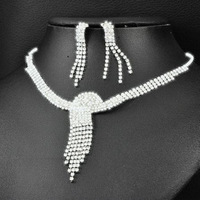 Min Order $5 (Mix Order) 2014 Bride Jewelry Sets Crystal Peacock Necklace Earrings Sets Fashion Jewelry