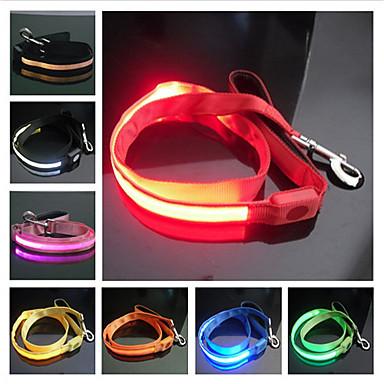 New 2013 Pet Dog Cat Reflective Nylon Night Safety LED Dog Leash S M L Wholesale & Retail Free Shipping(China (Mainland))