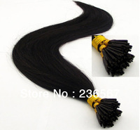 Free shipping brazilian virgin hair Keratin Extension I-tip  1g/pcs 100g/Pack #1 Jet Black  Top quality guarantee.