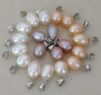 [Over Worth] Factory Price Freshwater Pearl Pendant, Genuine Natural Pearl S925 Pendant, 8.5-9mm Rice Pearl Pendant