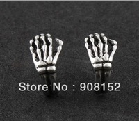 [POP] Factory Price Gothic Style Earring, 15mm Alloy Skeleton Hand Stud Earrings