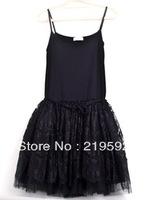 2013 gauze skirt modal basic skirt eyelash lace spaghetti strap puff skirt suspender skirt