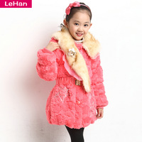 Children's clothing female child outerwear thickening overcoat wadded jacket outerwear overcoat child cotton-padded jacket