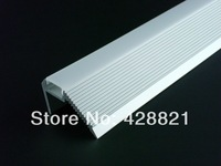 5m/Lot Free shipping 4826 aluminum profile 1m with PMMA OPAL cover and end caps for led strips,stairs lighting