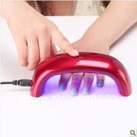 2013 New 9W LED UV Lamp Nail Dryer for UV Gel Nail Polish,Free Shipping!