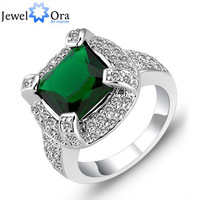 Luxurious Green Cubic Zirconia CZ  Rings For Women JewelOra #RI101203  Fashion Jewelry  Lady  Rings