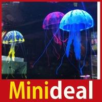 rising stars [MiniDeal] Aquarium Decorative Glowing Simulation Jellyfish Fish Tank Landscape Decoration Hot hot promotion!