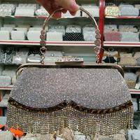2014 new tassels bag women Wallet Fashion Sparkle Spangle Crysta Clutch Evening Bag Handbag Chain Party Case Shoulder Bag