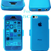 Hot selling TPU transparent for apple 5c soft shell flip cover mobile phone case for iphone   5 5c