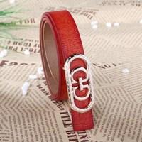 women double G buckle leisure belt Han edition comfortable leather belt women's women's genuine leather belt Drop/Free Shipping