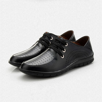 Genuine Leather Men's Shoes Business Formal Pointed Toe Oxfords Vintage Shoes