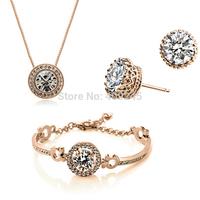 free shipping fashion bridal jewelry sets,gold plated jewelry set,TZ-2337