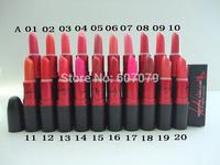 Free HKPOST (2pcs/lot)Fashion New Color Lustre Lipstick Brand Name mc Make up lip stick 3g !20 colors can chose Lucy L0226