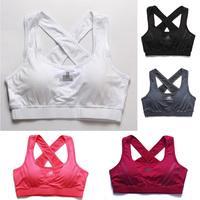 Free shipping Summer woman brief fashion sports casual half-length vest fitness yoga running tennis T shirt  bra