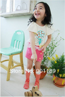 Wholesale summer clothing set baby girls top T shirt + short skirts 2 pcs set cotton & nice quality & size 80-90-100-110-120