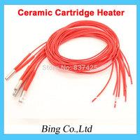 Best rate ! 2pcs/lot 3D Printer Prusa Mendel 12v40w Cartridge Heater Reprap 12V 40W Ceramic