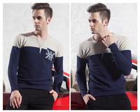 Free shipping New Winter Men's Sweater Warm fashion  v-neck  Knitting sweater male pullover sweaterwear