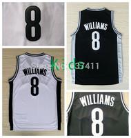 Deron Williams Kids Jerseys, Brooklyn #8 Deron Williams White Black Rev 30 Basketball Jersey For Kids ,Size:S-XL ,Free Shipping