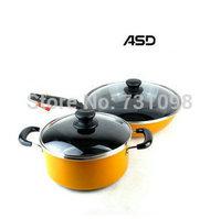 Home ue cookware 32cm aluminum frying pan and 22cm sauce pot sets