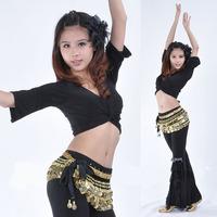 Dynamic suit women belly dance cloth 7 points sleeve women's belly dance sport suit belly dance training set wholesale clothing