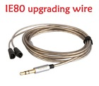 Free Shipping! Top-Quality IE80 IE8I silver plated wire / cable for earphone headset, headphones,upgrading cable, replace wire(China (Mainland))