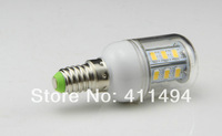 5pcs/lot  New Arrival E14 24 LED 5730 SMD 220V White / Warm white 9W led corn bulbs 850 LM