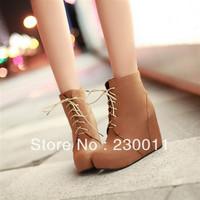 2013 new winter boots Korean Princess Fan Wedges waterproof heels Shoes