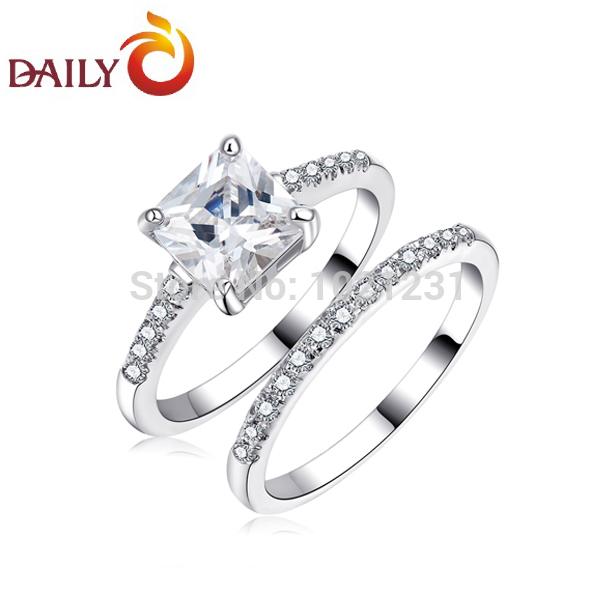 Criss-Cross-Princess-Cut-CZ-Diamond-Engagement-Wedding-Ring-Set-Silver ...