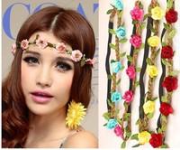 free shipping women and girl  flower hairband headband  women  shape hair ribbon,, flower elastic hair hoop,